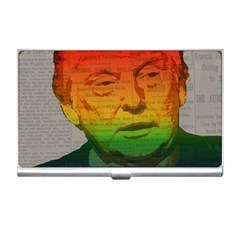 Rainbow Trump  Business Card Holders by Valentinaart