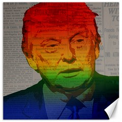 Rainbow Trump  Canvas 16  X 16   by Valentinaart