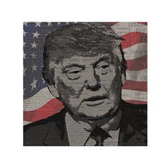 Trump Small Satin Scarf (square) by Valentinaart
