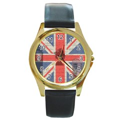 Vintage London Round Gold Metal Watch