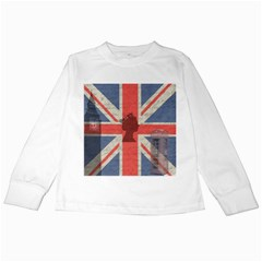 Vintage London Kids Long Sleeve T Shirts by Valentinaart