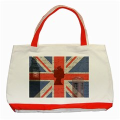 Vintage London Classic Tote Bag (red) by Valentinaart