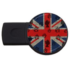 United Kingdom  Usb Flash Drive Round (4 Gb) by Valentinaart