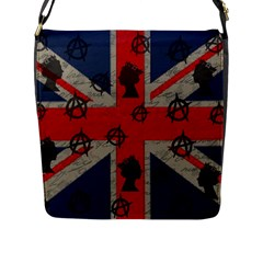 United Kingdom  Flap Messenger Bag (l)  by Valentinaart
