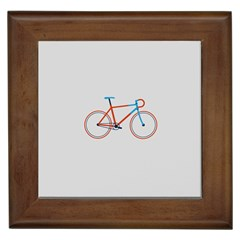 Bicycle Sports Drawing Minimalism Framed Tiles