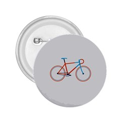 Bicycle Sports Drawing Minimalism 2 25  Buttons by Simbadda