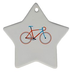 Bicycle Sports Drawing Minimalism Ornament (star)