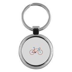 Bicycle Sports Drawing Minimalism Key Chains (round)  by Simbadda