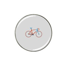 Bicycle Sports Drawing Minimalism Hat Clip Ball Marker (10 Pack) by Simbadda
