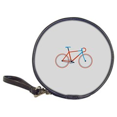 Bicycle Sports Drawing Minimalism Classic 20 Cd Wallets by Simbadda