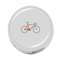 Bicycle Sports Drawing Minimalism 4 Port Usb Hub (two Sides)  by Simbadda
