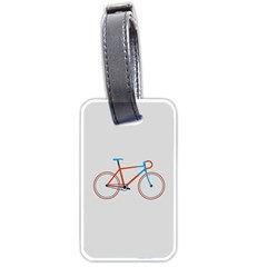 Bicycle Sports Drawing Minimalism Luggage Tags (two Sides)