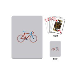 Bicycle Sports Drawing Minimalism Playing Cards (mini)