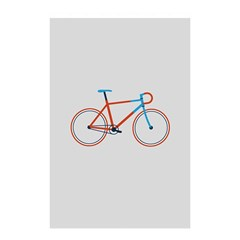 Bicycle Sports Drawing Minimalism Shower Curtain 48  X 72  (small)  by Simbadda