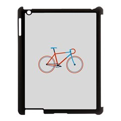 Bicycle Sports Drawing Minimalism Apple Ipad 3/4 Case (black)