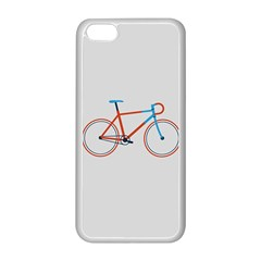 Bicycle Sports Drawing Minimalism Apple Iphone 5c Seamless Case (white)