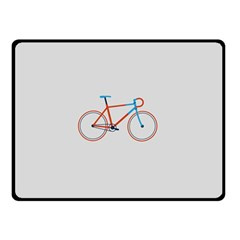 Bicycle Sports Drawing Minimalism Double Sided Fleece Blanket (small)