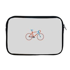 Bicycle Sports Drawing Minimalism Apple Macbook Pro 17  Zipper Case by Simbadda