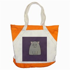 Cat Minimalism Art Vector Accent Tote Bag by Simbadda