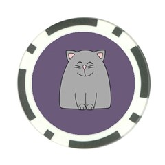 Cat Minimalism Art Vector Poker Chip Card Guard