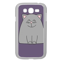 Cat Minimalism Art Vector Samsung Galaxy Grand Duos I9082 Case (white) by Simbadda