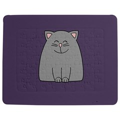 Cat Minimalism Art Vector Jigsaw Puzzle Photo Stand (rectangular)