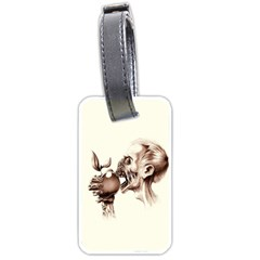 Zombie Apple Bite Minimalism Luggage Tags (two Sides) by Simbadda
