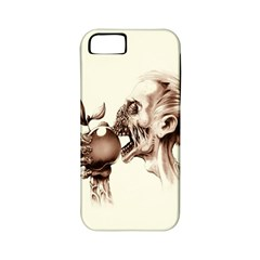 Zombie Apple Bite Minimalism Apple Iphone 5 Classic Hardshell Case (pc+silicone)