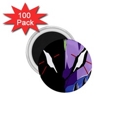 Monster Face Drawing Paint 1 75  Magnets (100 Pack)  by Simbadda