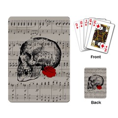 Skull And Rose  Playing Card by Valentinaart