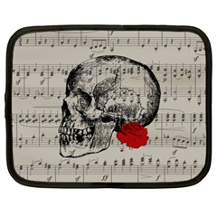 Skull And Rose  Netbook Case (xxl)