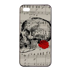 Skull And Rose  Apple Iphone 4/4s Seamless Case (black) by Valentinaart