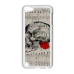 Skull And Rose  Apple Ipod Touch 5 Case (white) by Valentinaart