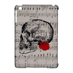 Skull And Rose  Apple Ipad Mini Hardshell Case (compatible With Smart Cover) by Valentinaart