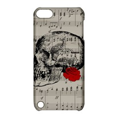 Skull And Rose  Apple Ipod Touch 5 Hardshell Case With Stand by Valentinaart
