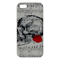 Skull And Rose  Apple Iphone 5 Premium Hardshell Case by Valentinaart