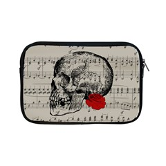 Skull And Rose  Apple Ipad Mini Zipper Cases by Valentinaart