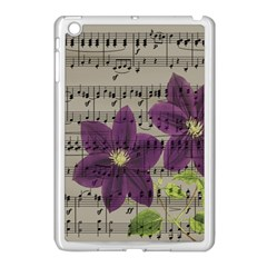 Vintage Purple Flowers Apple Ipad Mini Case (white) by Valentinaart
