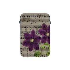 Vintage Purple Flowers Apple Ipad Mini Protective Soft Cases by Valentinaart