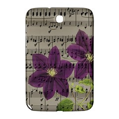 Vintage Purple Flowers Samsung Galaxy Note 8 0 N5100 Hardshell Case  by Valentinaart
