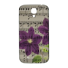 Vintage Purple Flowers Samsung Galaxy S4 I9500/i9505  Hardshell Back Case by Valentinaart