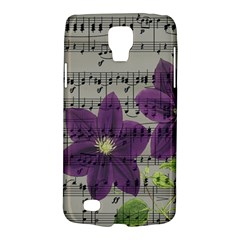 Vintage Purple Flowers Galaxy S4 Active by Valentinaart
