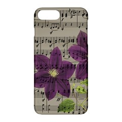 Vintage Purple Flowers Apple Iphone 7 Plus Hardshell Case by Valentinaart