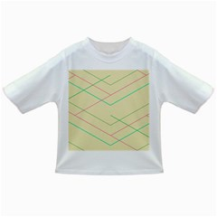 Abstract Yellow Geometric Line Pattern Infant/toddler T Shirts