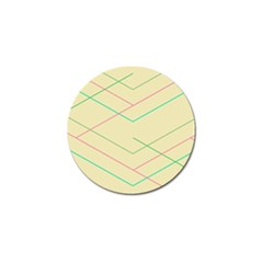 Abstract Yellow Geometric Line Pattern Golf Ball Marker (4 Pack)