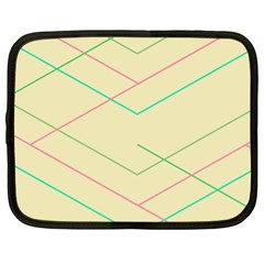 Abstract Yellow Geometric Line Pattern Netbook Case (xl)