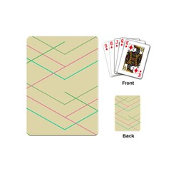 Abstract Yellow Geometric Line Pattern Playing Cards (mini)