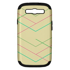 Abstract Yellow Geometric Line Pattern Samsung Galaxy S Iii Hardshell Case (pc+silicone)