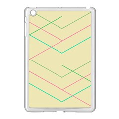 Abstract Yellow Geometric Line Pattern Apple Ipad Mini Case (white)