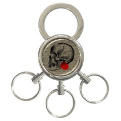 Skull And Rose  3 Ring Key Chains by Valentinaart